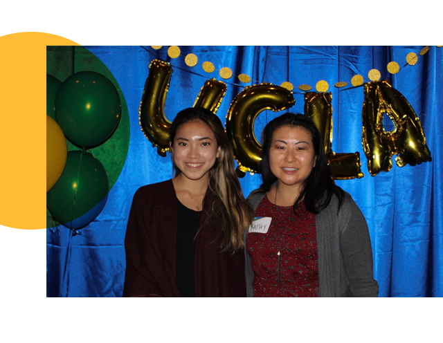 Mentor with student at 2019 Mentor Orientation
