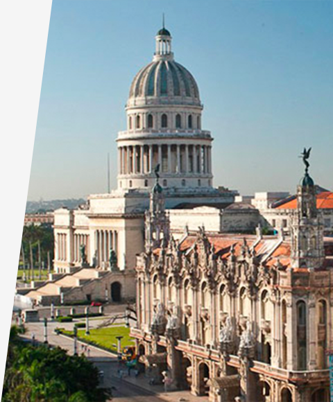 A capital building in Havana