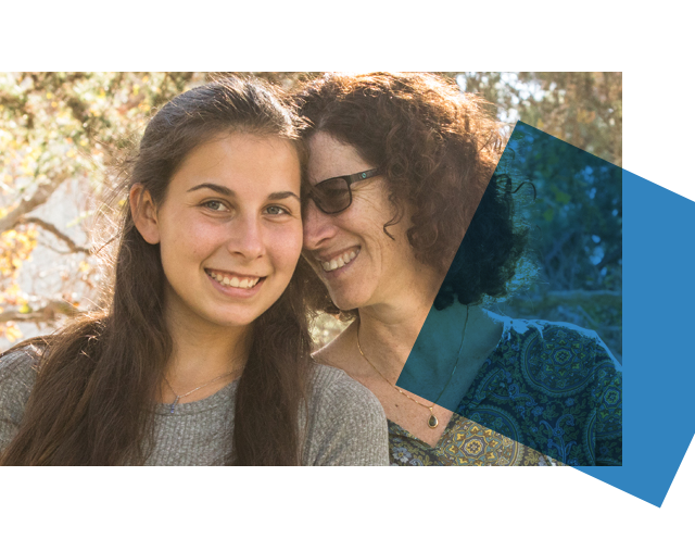 Mother and Daughter at Bruin Family Weekend