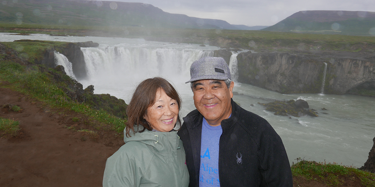 Wayne '71 & Shizuko Adachi in Iceland