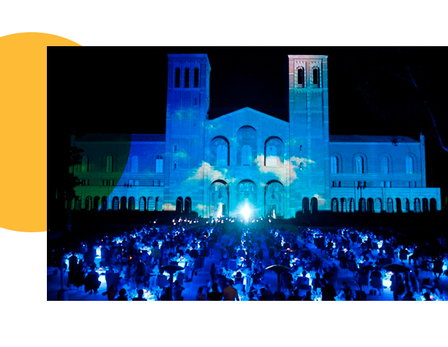 Royce Hall Lighting the Way Projection Show