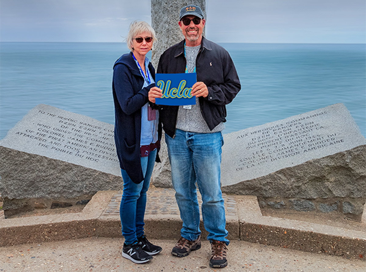 Gary and Camille in Normandy