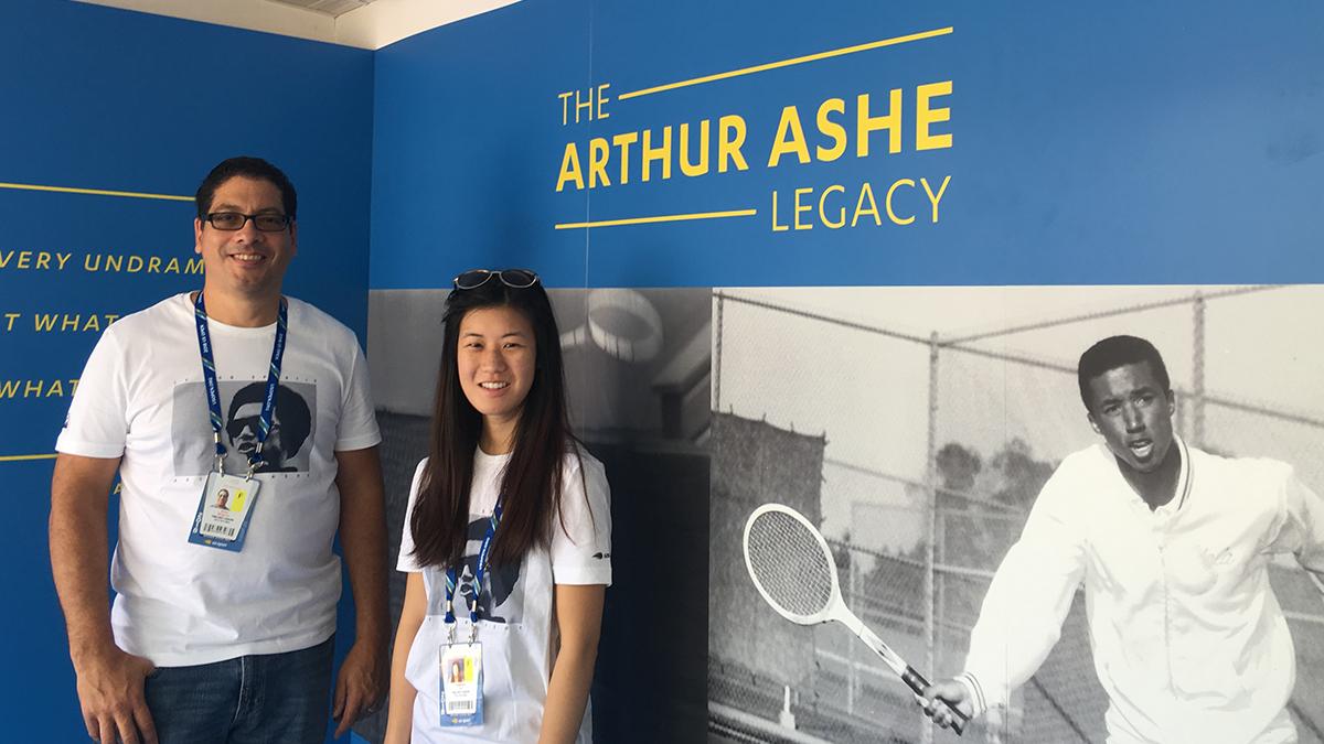 Arthur Ashe Legacy booth volunteers