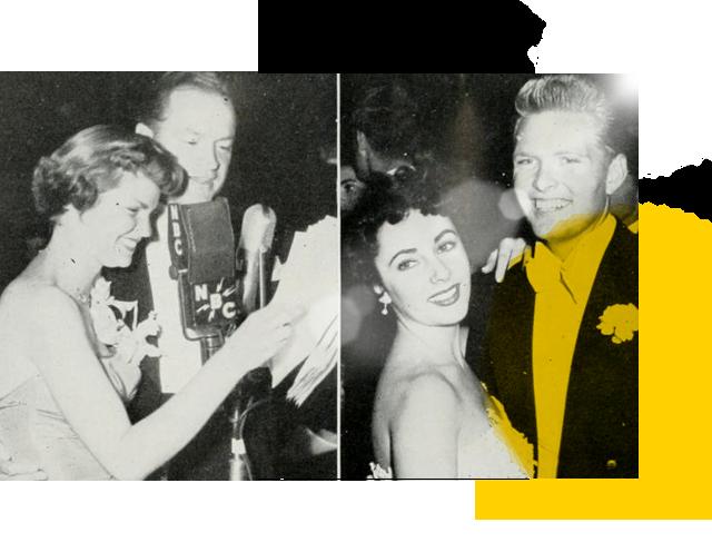 Bob Hope and Liz Taylor at Junior Prom