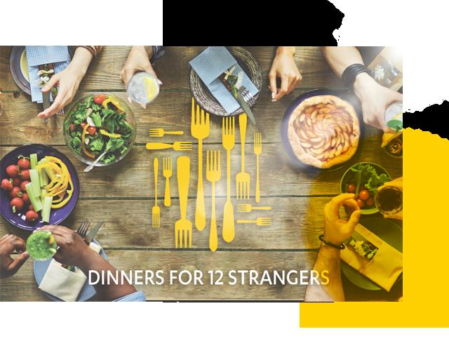 Dinners for 12 Strangers