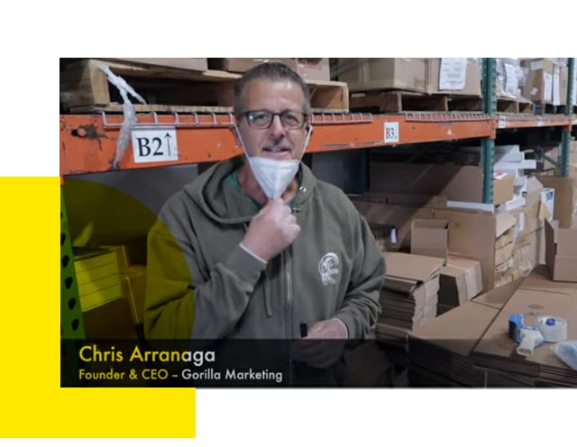 Chris Arranaga, CEO of Gorilla Marketing